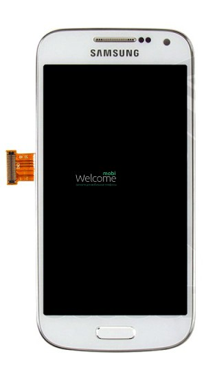 Дисплей Samsung I9190,I9192,I9195 S4 mini white with touchscreen with frame orig