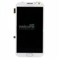Дисплей Samsung N7100 Note 2 white with touchscreen with frame orig