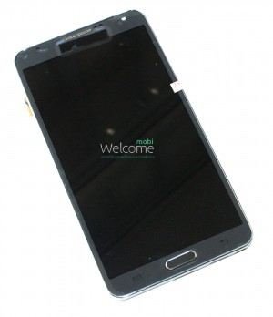 Дисплей Samsung N9000 Note 3,N9005 Note 3,N9006,N900 Note 3 gray with touchscreen with frame orig