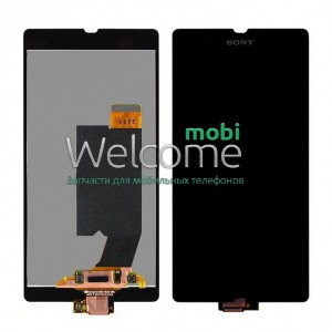 LCD Sony C6602 L36h Xperia Z/ C6603 L36i Xperia Z black with touchscreen orig (TEST)