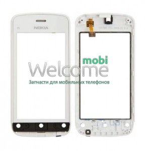 Сенсор Nokia C5-03,C5-06 white with frame orig