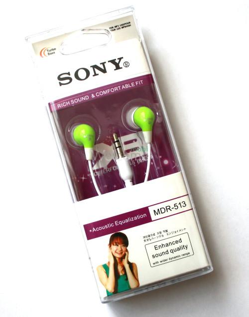Наушники вакуумные Sony MDR-513 green
