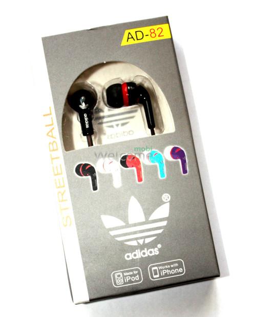 Наушники вакуумные adidas AD-82 black