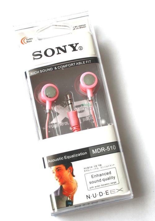 Наушники вакуумные Sony MDR-510 pink