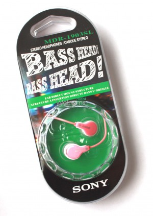 Наушники вакуумные Sony Bass Head MDR-1903SL pink