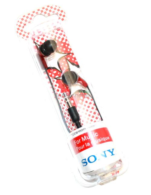 Наушники вакуумные Sony Bass MDR-1802SL red