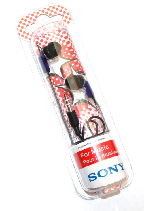 Наушники вакуумные Sony Bass MDR-1802SL blue
