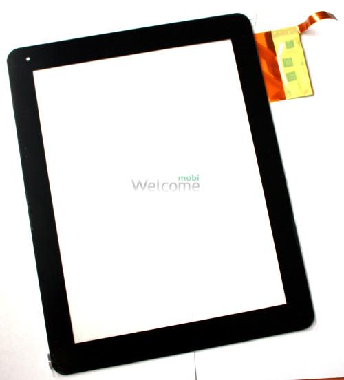 Сенсор для China-Tablet PC 9,7 Globex GU901C IconBIT NetTAB Space  Flytouch H08S Hapad X10, X2Texet TM-9720, TM-9740 Explay Informer 921 Tablets, (black, capacitive, 12 pin, (237*184 mm), 9.7) #300-L3456B-A00 VER1.0
