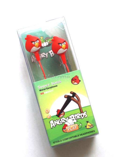 Наушники вакуумные AngriBirds EM-405 red