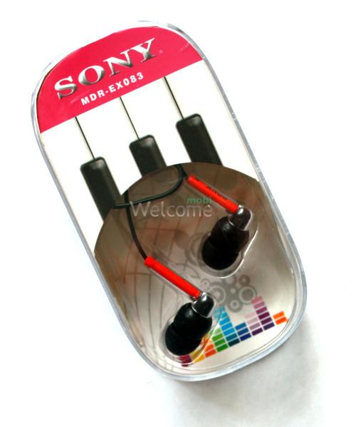 Наушники вакуумные Sony MDR-EX083 black,red