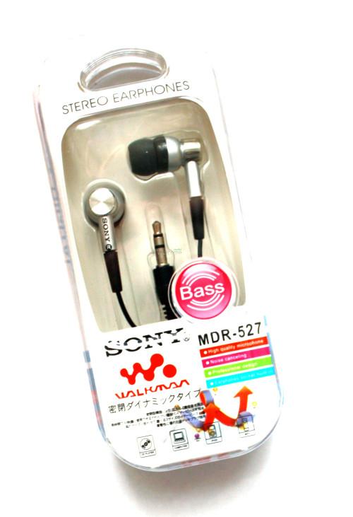 Наушники вакуумные Sony WalkMan MDR-527 silver