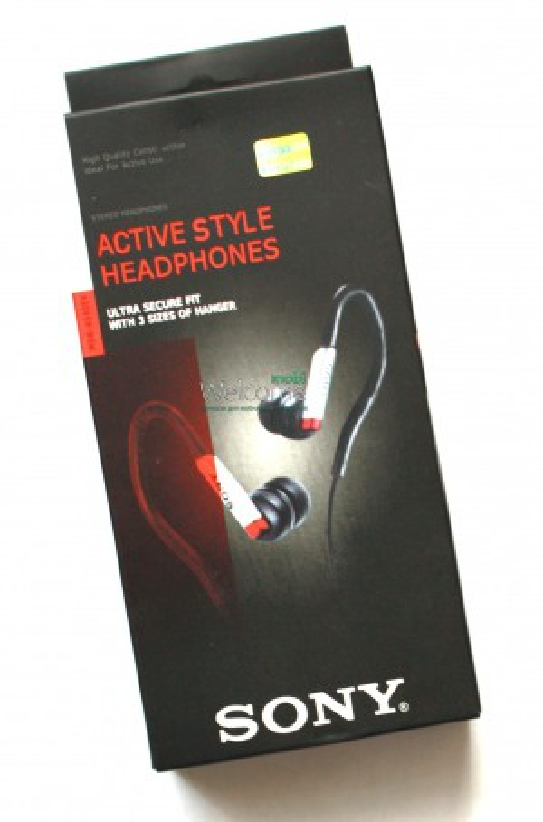 Наушники вакуумные Sony MDR-AS40EX black,red дуга спорт