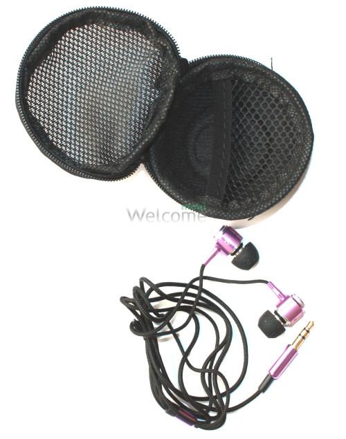 Наушники вакуумные метал Sony EX-250 violet+чехол skullcandy