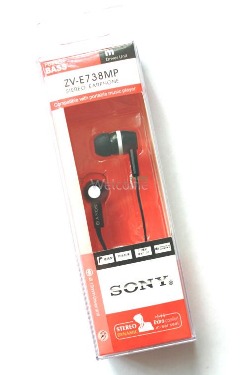 Наушники вакуумные Sony  ZV-E338,378,738MP black