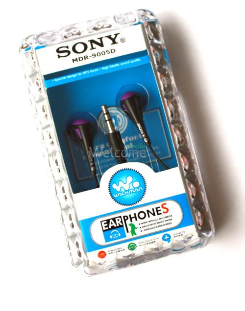 Наушники вакуумные Sony MDR-9005D black,violet