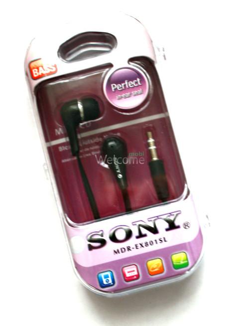 Наушники вакуумные Sony Perfect MDR-EX801SL black