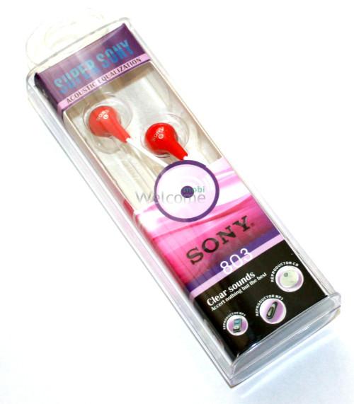 Наушники вакуумные Sony Super 803 red