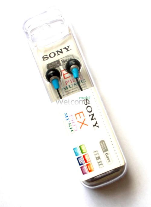 Наушники вакуумные Sony EX Plus Musik SO-810 black,blue