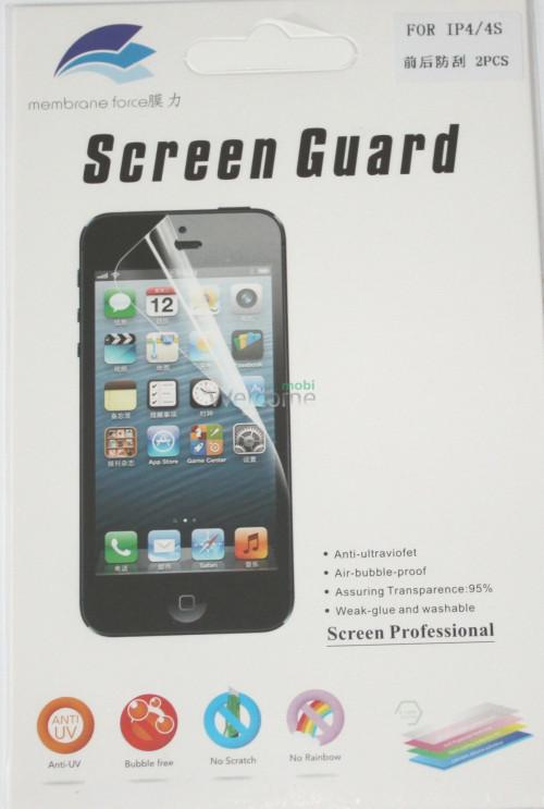 Защитная пленка iPhone4,4S глянец (экран и задняя крышка)
