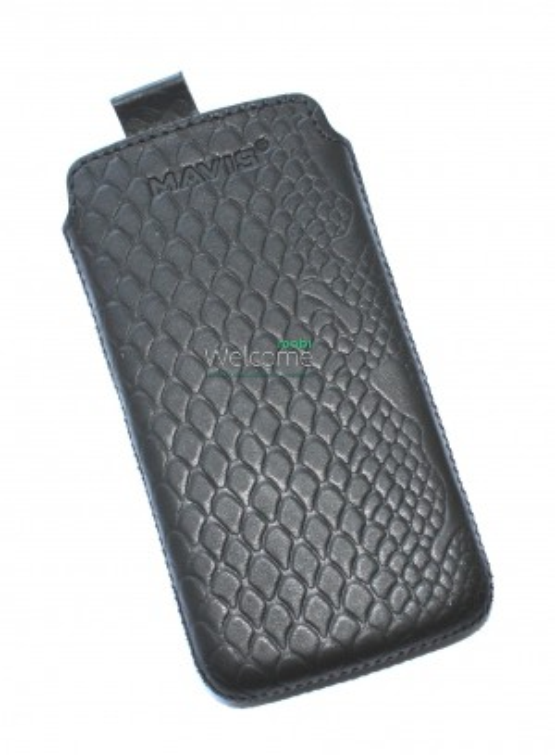 Чехол кожа  Mavis Classic Python Black HTC T320e One V (68x125)