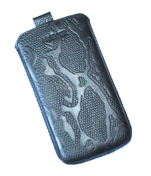 Чехол кожа  Mavis Classic Python Black HTC Z710e Sensation,Z715e Sensation XE (72x130)