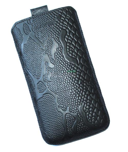 Чехол кожа  Mavis Classic Python Black Lenovo S920 (85x158)