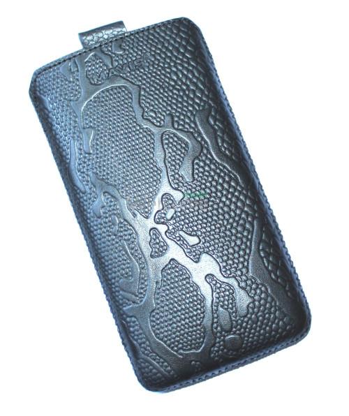 Чехол кожа  Mavis Classic Python Black LG D686 G Pro Lite Dual (85x155)