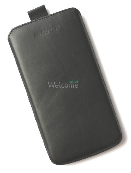 Чехол кожа  Mavis Classic Black Lenovo S920 (85x158)