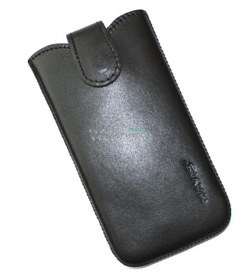 Чехол кожа Mavis Classic Black 10 Samsung i9300,HTC 801e (75x145)