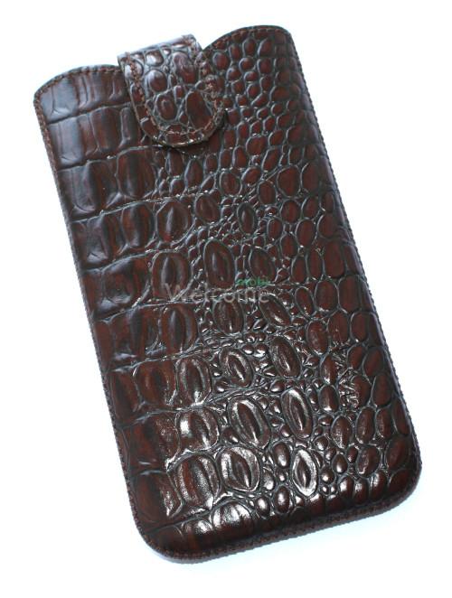 Чехол кожа Mavis Classic Crocodile Brown 12 Samsung G900,Lenovo S960 (80x150)