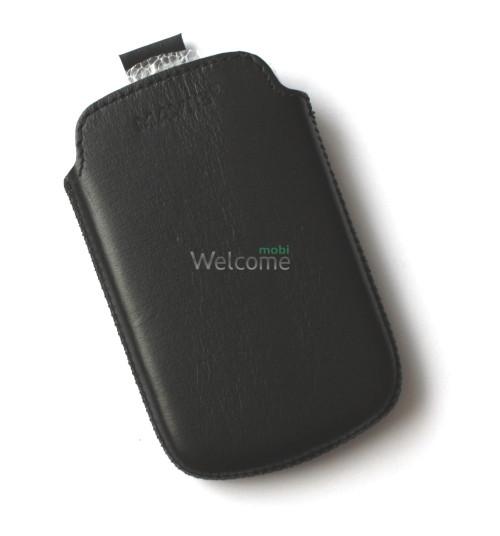 Чехол кожа  Mavis Classic Black HTC A310e Explorer (68x105)