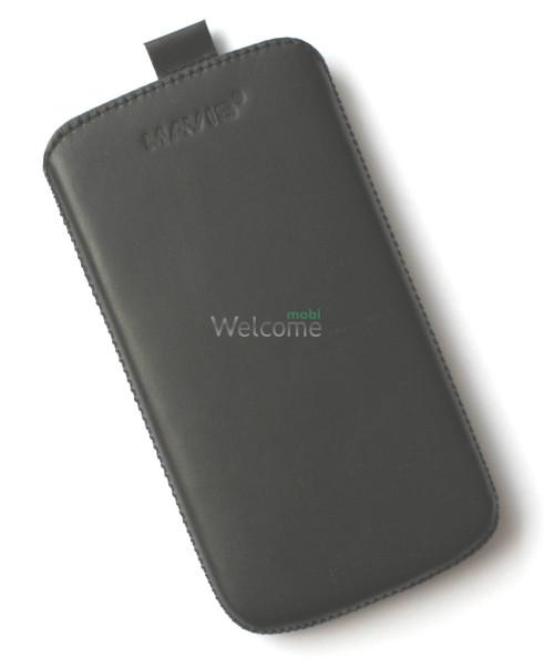 Чехол кожа  Mavis Classic Black Lenovo A760 (75x140)