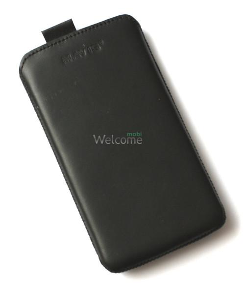 Чехол кожа  Mavis Classic Black Lenovo A766 (80x145)