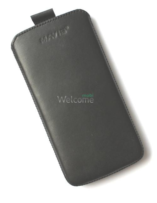 Чехол кожа  Mavis Classic Black Lenovo S960 (78x150)