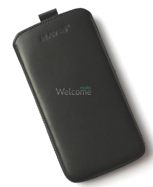 Чехол кожа  Mavis Classic Black LG D802 G2 (75x145)