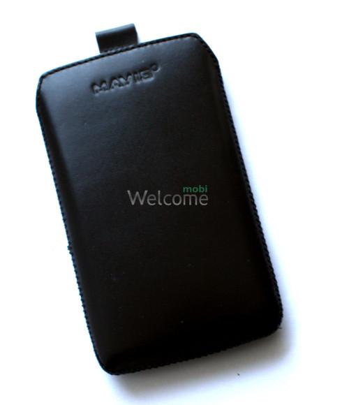 Чехол кожа  Mavis Classic Black Lg L5 Optimus,L5 Optimus Dual (E612,E615)-(75x130)