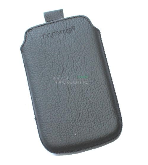 Чехол кожа  Mavis Classic Flotar Black HTC A320e Desire C (67x110)