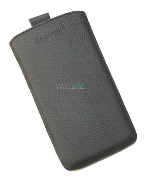 Чехол кожа  Mavis Classic Flotar Black HTC A620e WP 8S (70x125)