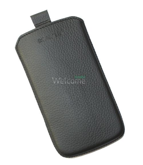 Чехол кожа  Mavis Classic Flotar Black HTC C520e One SV (72x130)