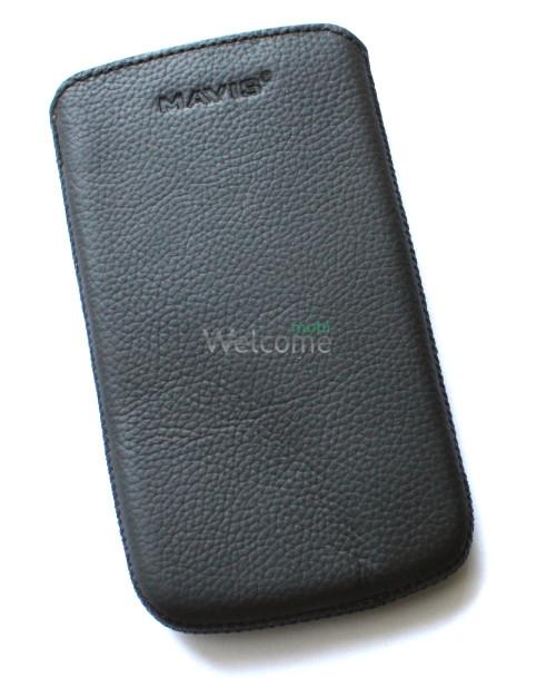 Чехол кожа  Mavis Classic Flotar Black HTC S720e One X,X325s One XL (77x142)