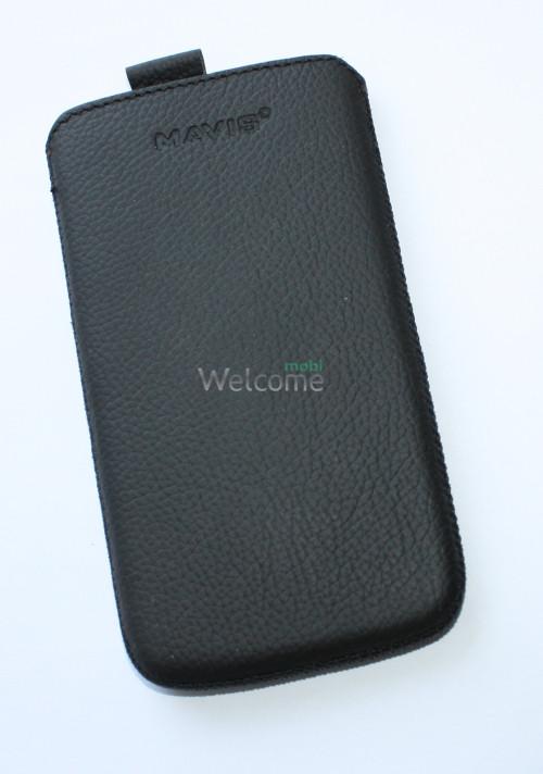 Чехол кожа  Mavis Classic Flotar Black Lenovo A820 (75x140)