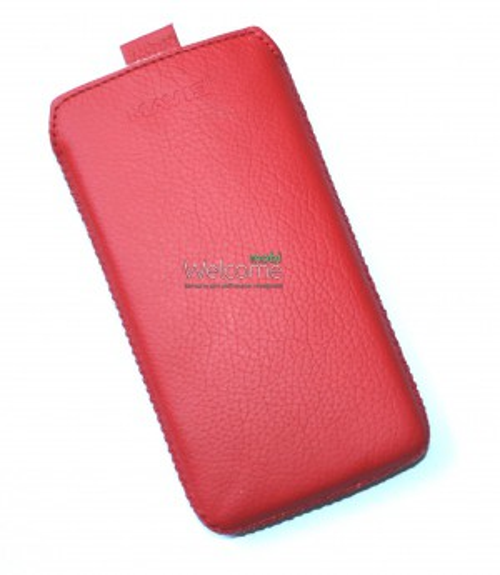 Чехол кожа  Mavis Classic Flotar Red HTC C620e WP 8X (75x137)