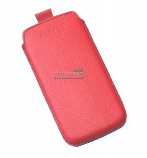 Чехол кожа  Mavis Classic Flotar Red HTC T320e One V (68x125)