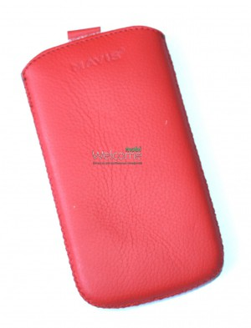 Чехол кожа  Mavis Classic Flotar Red HTC T326e Desire SV (75x135)