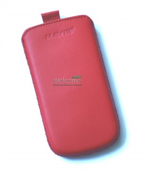 Чехол кожа  Mavis Classic Flotar Red HTC T328w Desire V (70x125)
