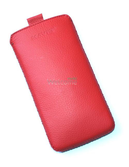 Чехол кожа  Mavis Classic Flotar Red HTC Z320e,Z520e,Z560e One S (72x135)