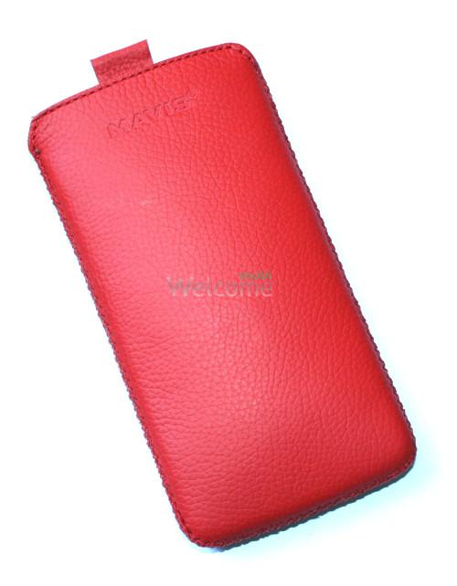 Чехол кожа  Mavis Classic Flotar Red HTC 300 Desire (74x140)