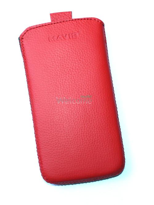 Чехол кожа  Mavis Classic Flotar Red HTC 500 Desire (70x135)