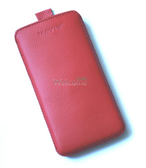 Чехол кожа  Mavis Classic Flotar Red HTC 600 Desire (75x140)