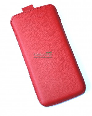 Чехол кожа  Mavis Classic Flotar Red HTC 601e One Mini (70x135)